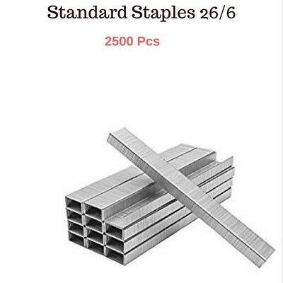 2500 PCs - 26/6 - Standard Heavy Duty Staples - School and Office need Free Post