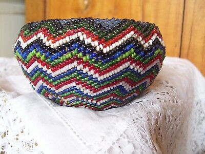 Early Paiute Beaded Basket -Native American Beaded Basket.