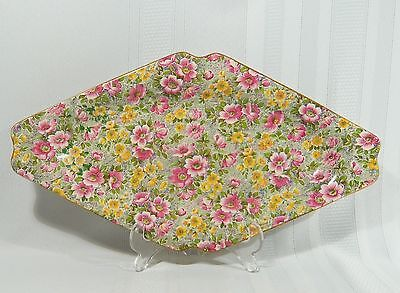 "China Lord Nelson BCM CHINTZ Briar Rose Tray Sugar Cream Sandwich 12 3/4"" Tray"