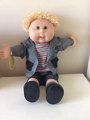 Cabbage Patch Play Along Boy - Brown Eyes, Two Teeth, Original Outfit & Tags