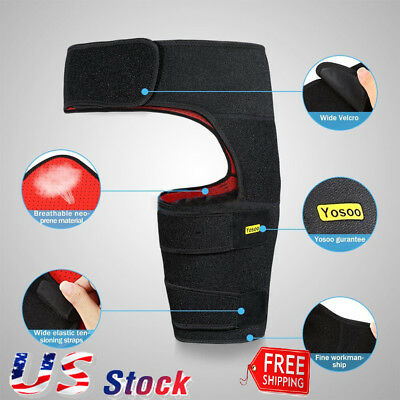 Adjustable Groin Support Hip Brace Strain Sciatica Pain Relief Wrap Compression