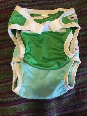 Baby BeeHinds Nappy Covers Size Medium 6mths Up. Green And Blue
