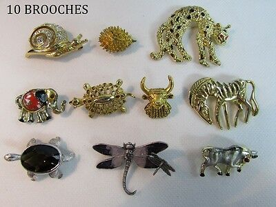 Large lot of cute animal brooches - vintage to modern