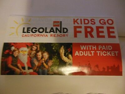 Legoland Coupon.**kids go free / with paid adult **{{ 2017 }}**Free  Shipping**