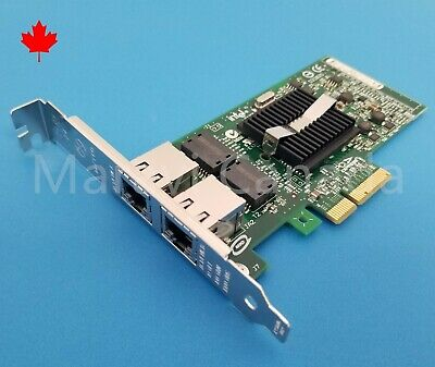 Dell Intel Pro/1000 PT Dual 2 Port Gigabit 1GB PCIe Network Card 0X3959 X3959
