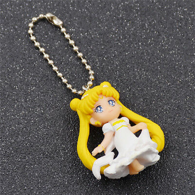 Cute Anime Sailor Moon Figure Keychain Wedding Figure Girl Decor Gift Key Ring