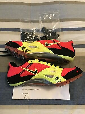 Cathy Freeman Signed Nike Running/Track Shoes with spikes - Size 7.5US