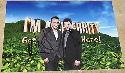 """Ant & Dec Signed 12"""" x 8"""" Colour Photo I'm A Celebrity Get Me Out Of Here !"""
