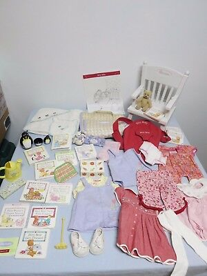 Bitty Baby dress Pants Bag Books Bear Toys shoes crayons Chair doll accessor LOT