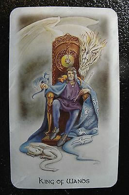 King of Wands The Celtic Dragon Tarot Single Replacement Card Excellent