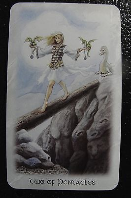 Two of Pentacles Celtic Dragon Tarot Single Replacement Card Excellent