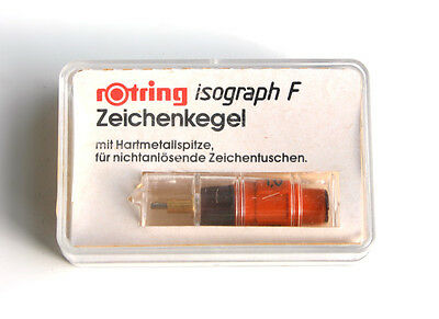 rotring R 758100 isograph F Zeichenkegel 1,0 mm in OVP