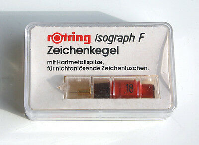 rotring R 758018 isograph F Zeichenkegel 0,18 mm in OVP