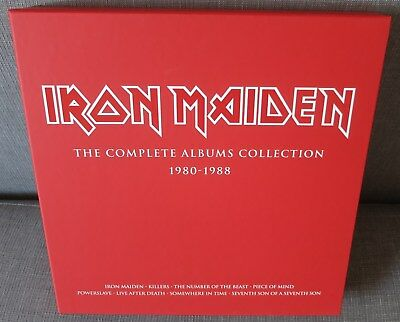 IRON MAIDEN - The Complete Albums Collection 1980-1988 - LEERBOX, MINT