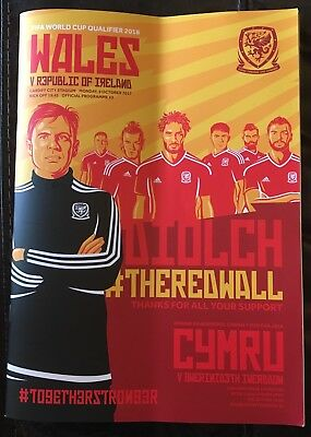 Wales V Republic Of Ireland World Cup Qualifier 2017 Programme