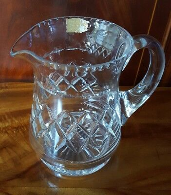 Large Vintage Stuart Crystal Pitcher / Jug