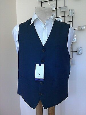 Navy Blue Birdseye Tailored Fit Waistcoat By Chester Barrie BNWT - 42 Regular