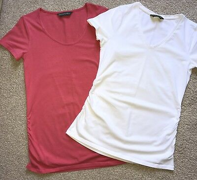 Pink & White Maternity T-Shirts Size Small