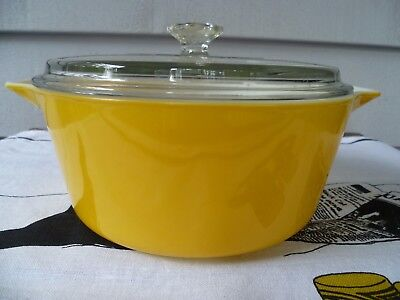 Vintage Pyrex Yellow Casserole with Lid