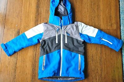 Boys snow ski jacket hoodie Size 4 AS NEW *Only worn for one day*