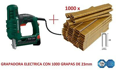 GRAPADORA ELECTRICA CON 1000 GRAPAS DE 23mm CLAVADORA GRAPAR TAPIZAR calidad