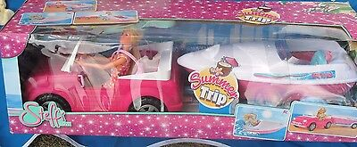 Steffi Doll with Jeep & Speed Boat, BNIB,