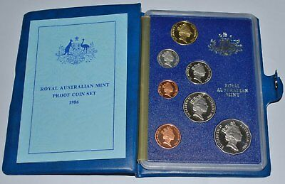 Australian 1986 Proof Coin Set (7 Coins) Year Of International Peace