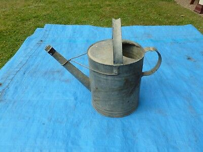 Watering Can - Willow - Galvanised - Old Antique Vintage