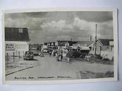Old RPPC Belsize Avenue Grasslands JAYWICK Sands Essex real photo postcard