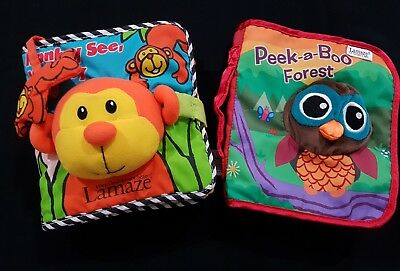 LAMAZE SOFT BOOKS~PEEK A BOO FOREST~MONKEY SEE MONKEY DO~exc cond!!