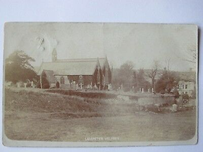 Old 1905 RPPC Lampeter Velfrey Church & surrounds Pembrokeshire Wales postcard