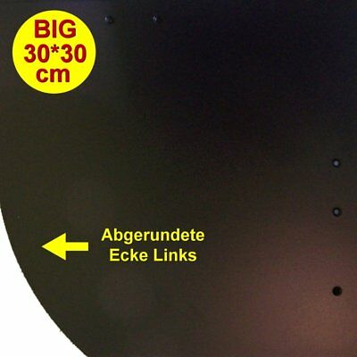 1 Flexy Big Schindel Links schwarz matt glatt (Kunststoff Schindeln) Muster