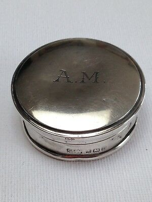 Art Deco 1927 Houbigant France Hallmarked Solid Silver Powder Compact Mirror