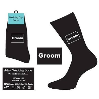 Wedding Socks lots of titles groom groomsman father of the bride  page boy