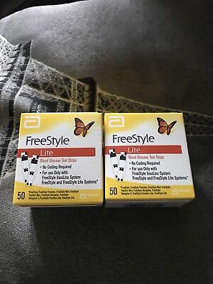 Freestyle Lite Test Strips X2 Boxes(out Of Date)