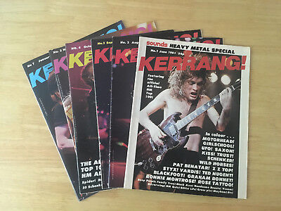Kerrang Issues 1, 2, 3, 4, 5 And 7 Beautiful Condition Ac/dc First Issue Lemmy