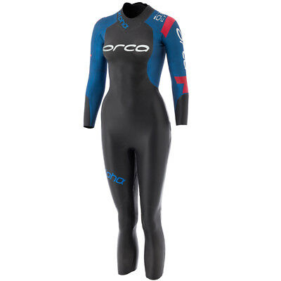 Orca Alpha Womens Fullsleeve Wetsuit Open Water Swimming Triathlon Black