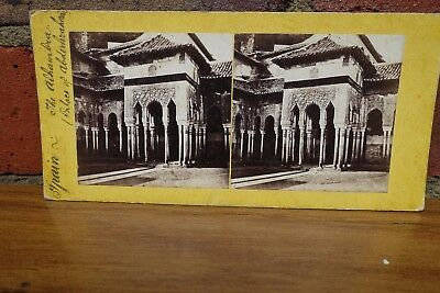 Stereoview Spain - The Alhambra Palace - c1850's