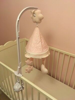 Pink Silver Cross Cot Mobile