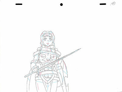 SALE! Anime Douga Not Cel: Queen's Blade #297 (Set of 1 Production Sketch)
