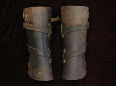 Rare Old Australian NSWP NSW Mounted Horse Police Leather Leggings Gaiters