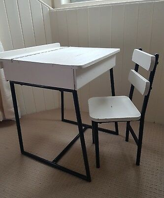 old painted school desk and chair kids bedroom furniture
