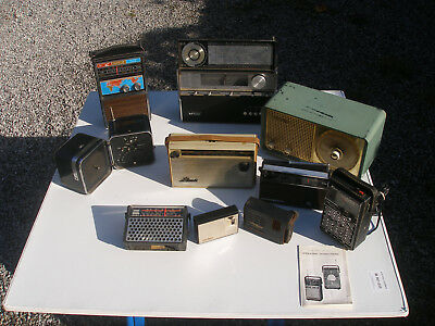 Lot de Radios de collection Brionvega cube, Tokay, ITT, Vanica, Kenton