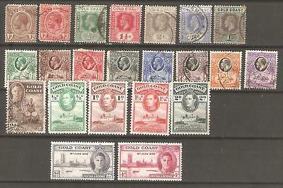 Gold Coast :A Selection of 22 KGV and KGV1 Mint & Used Stamps