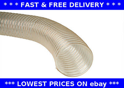 PU clear flexible ducting hose. hydroponics, fume & dust extraction, woodworking