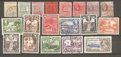British Guiana: A Selection of Nineteen Used Stamps