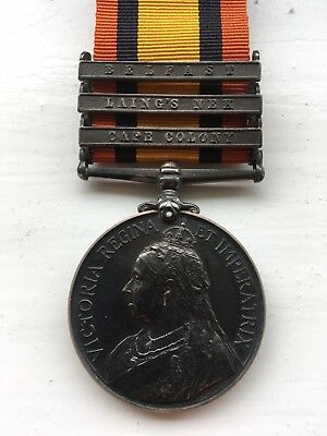 Queen's South Africa Medal - Pte Burrows Leicestershire Regiment