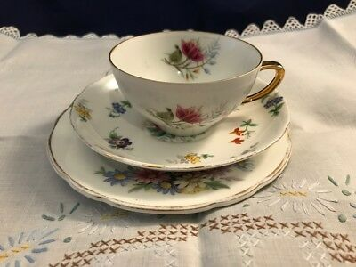 Vintage Mismatched Shabby Chic Trio - Westminster Cup, Tuscan & Regency