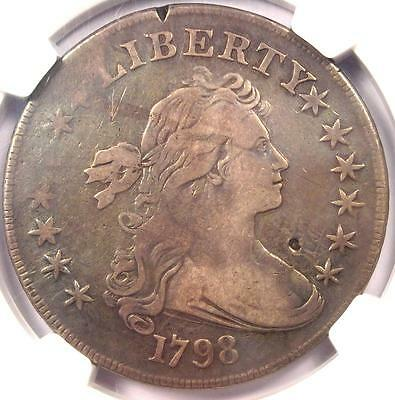 1798 Draped Bust Silver Dollar $1 BB-125 B-8 - NGC VF Details - Rare Coin