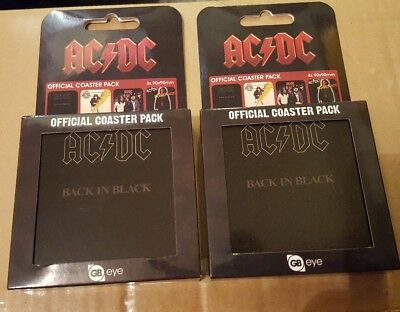 2 x ac/dc official coaster packs new